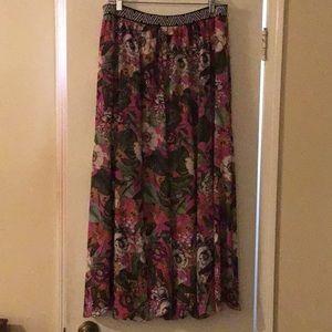 Anthropologie Flower Skirt